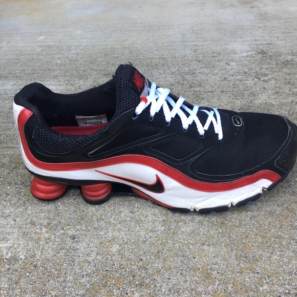 cheap for discount 37437 8e43a Nike Shox Turbo+ 9 R Red White Black Shoes Running